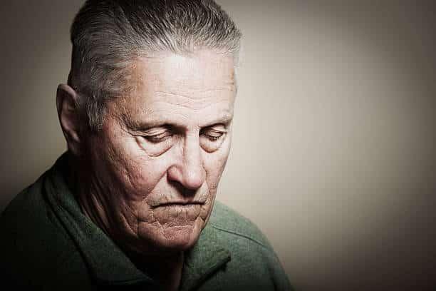 Personne âgée souffrant de dépression